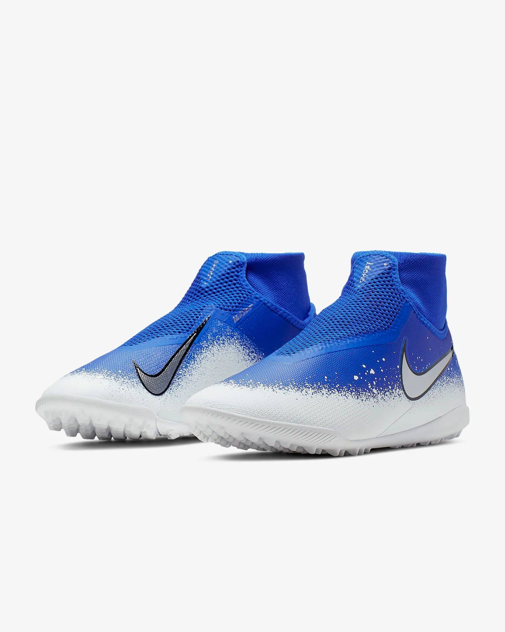 Футбольные шиповки Nike React Phantom Vsn Pro DF TF AO3277-410 SR (фото 4)